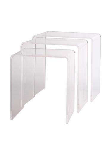 Pure Décor Acrylic Nesting Tables, Set of (Clear Acrylic Nesting Table)