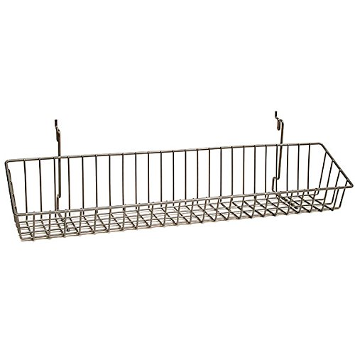 Wire Basket Slatwall Pegboard Display Retail Store Fixture Lot of 10 Chrome NEW