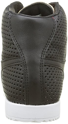 Gola Harrier High Glimmer Leather, Baskets Basses Femme Noir (Black/Rose Gold)
