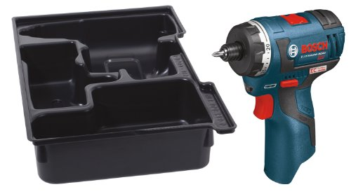Bosch PS22BN Bare-Tool 12-volt Max Brushless Pocket Driver with Insert Tray for L-Boxx by Bosch