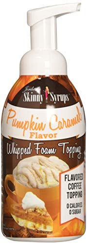 - Jordan's Skinny Syrups Pumpkin Caramel Whipped Foam Topping,16 Ounce
