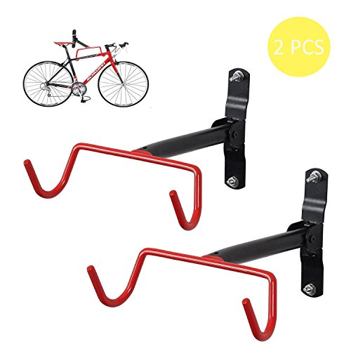 FIVE FLOWER 2xBicycle Hanger Wall Mount Folding Racks (L) For Sale