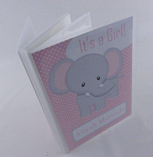 Baby girl photo album . 415 .Pink Elephant . 4x6 photo album 5x7