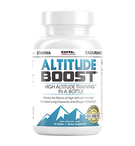 ALTITUDE BOOST - #1 Endurance Supplement - Mimics the Effects of High Altitude Training - Increases Lung Capacity and Oxygen Efficiency, 60 tablets