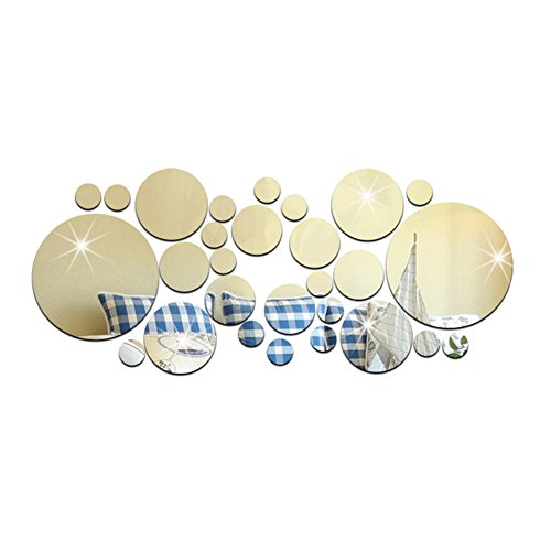 Topshop DIY Modern Fashion Circles Mirror Removable Decal Stlye Vinyl Art Wall Sticker Home Decor