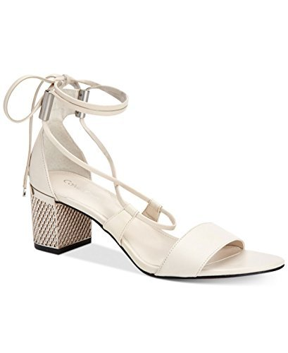 Calvin Klein Womens Natania Leather Open Toe Casual, Soft White, Size 6.0