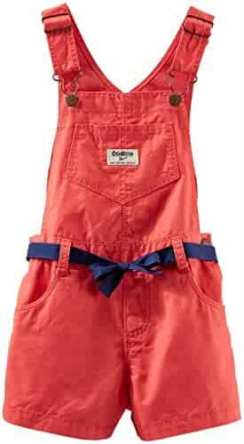 5e91e07787 OshKosh B gosh Little Girls  Shortall (Toddler) - Orange