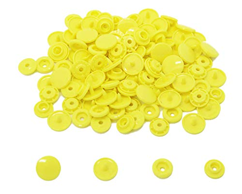 200 KAM Size 20 T5 Resin Plastic Snaps Buttons for Baby Bib Cloth Diaper (B7 - -