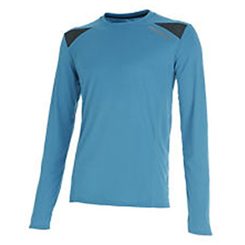 Diadora, Long Sleeve T-Shirt, Maglia maniche lunghe running, Uomo, Blu fluo, L
