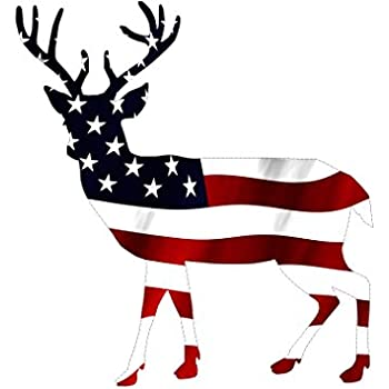 Amazon Com Camo Deer Head With Antlers Sticker Automotive