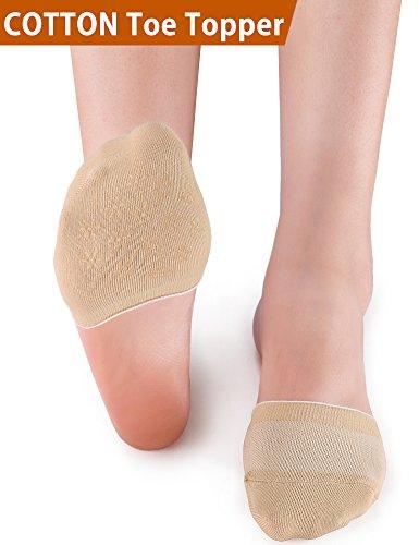 VERO MONTE 6 Pairs Womens Toe Topper Socks - No Show Half Socks (6-9, Skin) 4616 by VERO MONTE