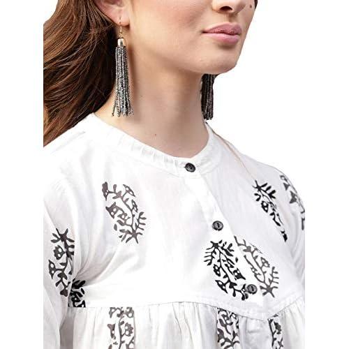 41PKfdVXR5L. SS500  - Amayra Women's Cotton Straight Top (White)