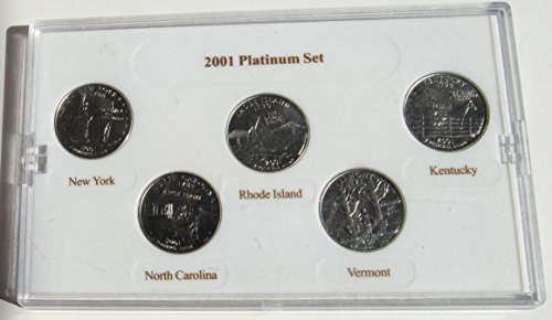 2001 P United States Mint 5 Quarter Coin Platinum Set Without Box or COA Various Seller New