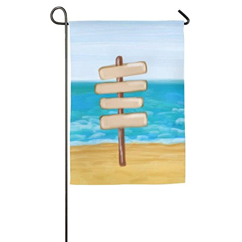 Mm Post 11 Flower (amuseds Signpost In The Seashore And Sea Garden Flag Yard Decorations Flag For Outdoor Use 100% Waterproof Polyester Flags)