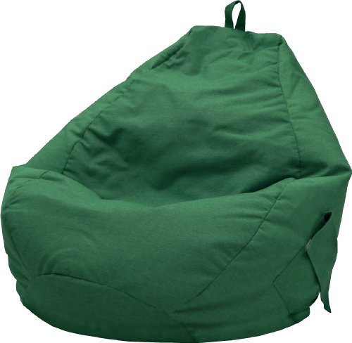 Gold Medal Bean Bags 31011284919TD Large Denim Tear Drop Bean Bag with Pocket, Green