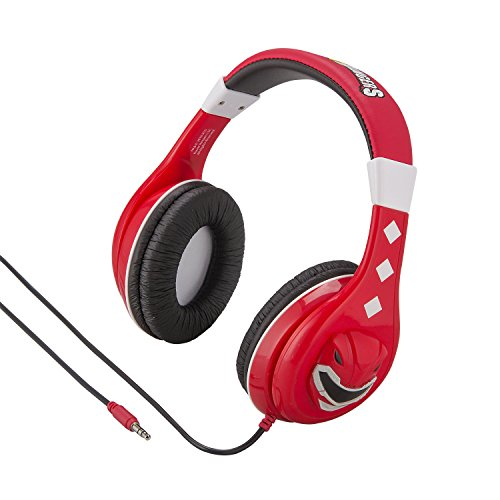 Power Rangers Headphones for Kids with Built in Volume Limiting Feature for Kid Friendly Safe Listening