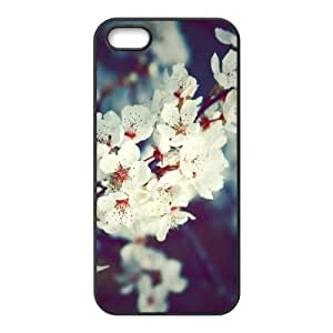 Custom Vintage Flower Retro Cherry Blossom Durable Protector Back Cover Case for iPhone 5 5s TPU