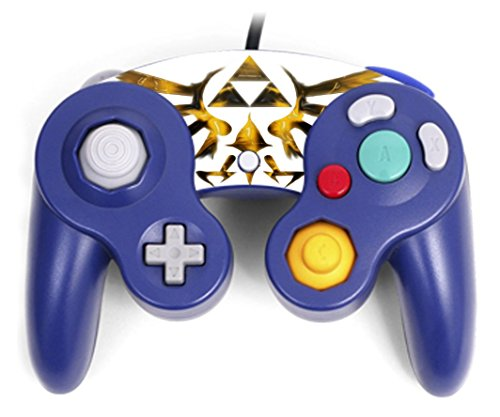 Triforce Symbol Design Print Image Gamecube Controller Vinyl Decal Sticker Skin by Trendy - Zelda Gamecube Skin For