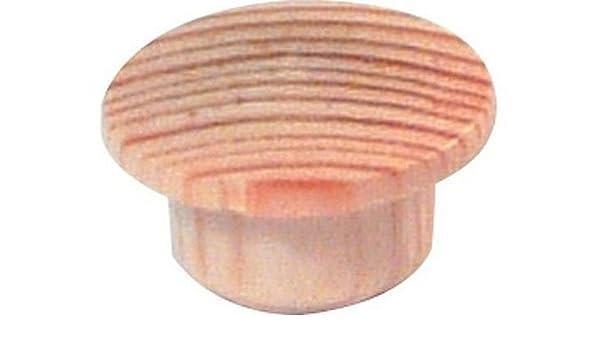 4 embellecedores de madera maciza de fresno para tapar agujeros de tornillos de 10 mm: Amazon.es: Bricolaje y herramientas