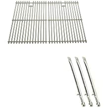 Repair Kit for BHG GSF2818KL, BroilChef, BBQTEK GSF2818K, GSF2818KL, GSF2818KS, GSF2818KM Gas Grill Includes 3 Stainless Steel Burners and Stainless Steel Cooking Grates