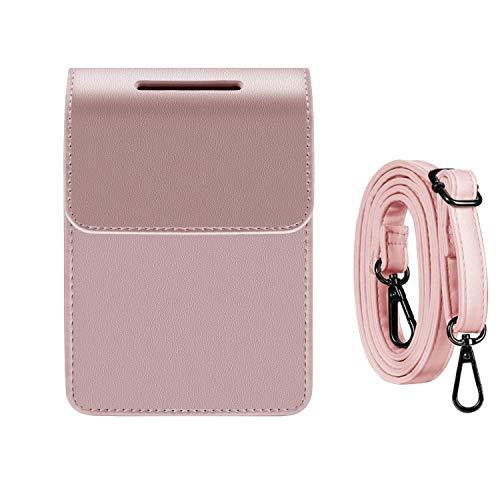 Katia Case for Fujifilm INSTAX Share SP-2 Smart Phone Mobile Printer, Polaroid Film Storage Bag with Shoulder Strap - Rose Gold (Phone Printer Case)