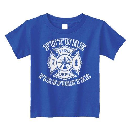 Threadrock Little Boys' Future Firefighter Toddler T-Shirt 2T Royal Blue