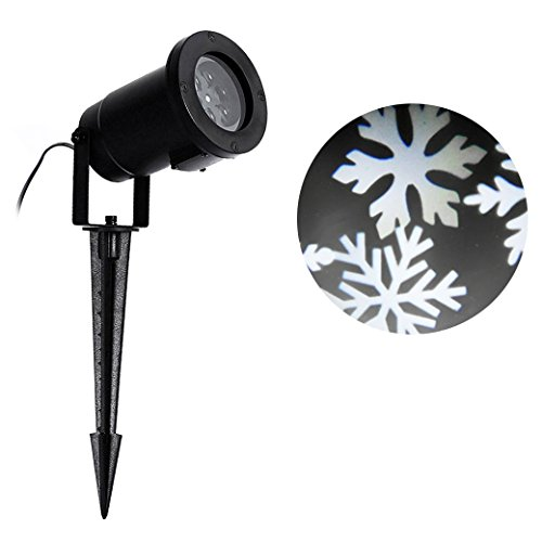 Sunvito Waterproof White Snowflakes Lamp Light Sparkling