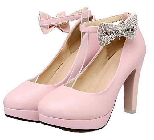 Chaussures L D'orteil Fermeture Boucle Unie Agoolar Femme Couleur 0YgOx