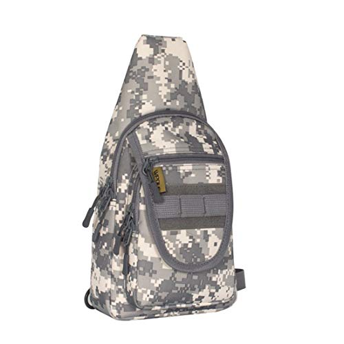 Outdoor Houyazhan Backpack Desert Camouflage Rover Pack Camouflage Sling campeggio Daypack Sport Tracolla Trekking per Torace colore dOaxRO