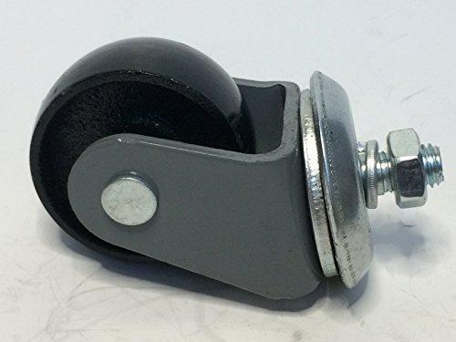 Floor Jack Caster 60 X 25mm Wheel, 12 X 20mm Shaft, All Steel. Fits ATD,  Cornwell, Mac, ...