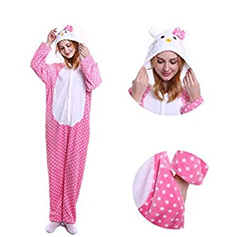 99c1aa4b49 HITSAN 2018 Winter Animal Pajamas Stitch Sleepwear Unicorn Pajamas Onesie  Sets Kigurumi Women Men Unisex Adult