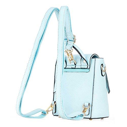 la Rétro Simple Fashion de Sac Cuir série bleu PU Dos en à Individualité Femmes BBBP147 couleur pure de Vogue en la de Mode style Loisir Barbie Filles zpw0Bqw