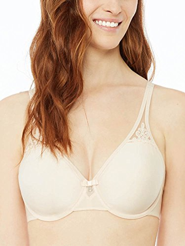 Bestform Feminine Full Cup Underwired Moulded Non Padded Plunge Bra Blush 40DD (Moulded Bra Cup Full)