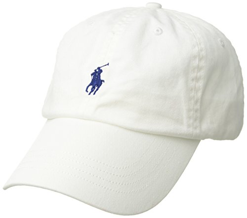 (Polo Ralph Lauren Chino Baseball Cap, White, One Size)