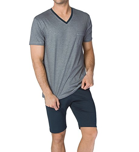 Calida Comfy Zone Micro Modal Pajama Short Set (48365) L/Onyx by Calida