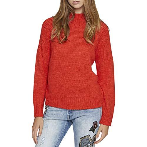Sanctuary Cropped - Sanctuary Womens Fiona Turtleneck Knit Pullover Sweater Orange S