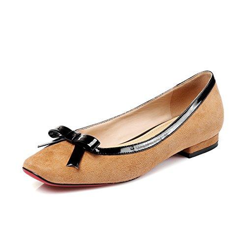 Señora luz cruda con los zapatos de la primavera/ArcoCoreanomujereszapatosdemoda/talóncuadrado B