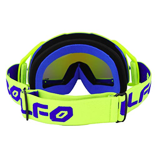 SODIAL Glasses Occhiali Motocross Occhiali Caschi Moto Occhiali MX off Road Dirt Bike Sci Sport Occhiali Masque Moto Occhiali Blu