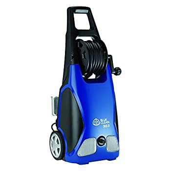 Image of AR Blue Clean, AR383 1,900 PSI Electric Pressure Washer, Nozzles, Spray Gun, Wand, Detergent Bottle & Hose