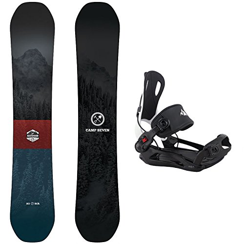 Camp Seven 2021 Redwood Snowboard & MTN Rear Entry Step in Bindings Snowboard Package