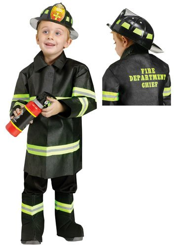 Fun World Costumes Baby Boy's Toddler Fire Chief Costume, Black, Small ()