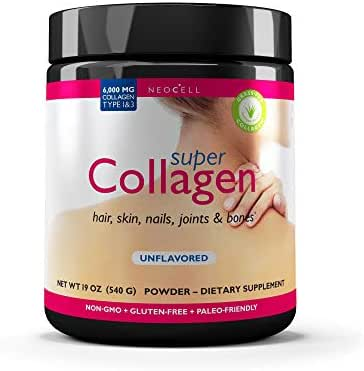 NeoCell Super Collagen Powder – 6,600mg Collagen Types 1 & 3 - unflavored - 19 Ounces (Packaging May Vary)