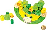 Small Foot Wooden Toys Stacking Frog Balancing Game with dice Move it! Designed for Children Ages