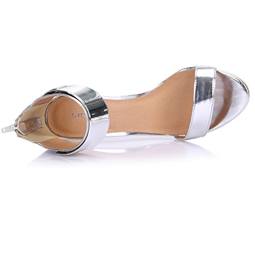 ... LiKing 23-002 Damen Sandalen Sandaletten High Heels Silber ec5d8c7fb1