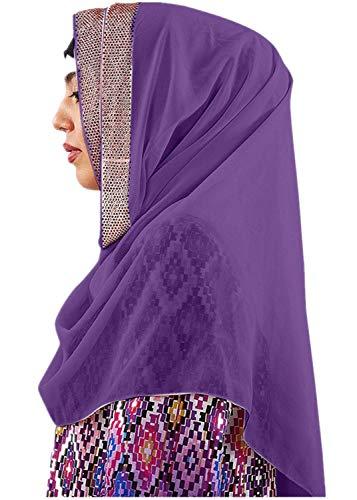 hositor Kentucky Derby Hats for Women, Shimmer Sparkle Gold Glitters Plain Chiffon Muslim Hijab Scarf Shawl Head Wrap