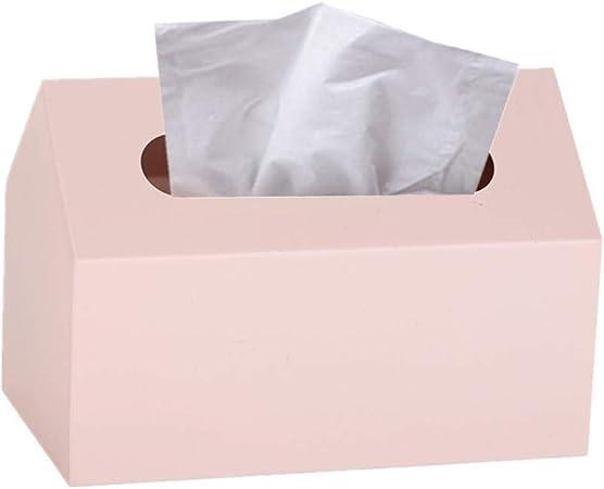 Gofeibao Caja para pañuelos de Papel Cajas para pañuelos de Papel Cajas de pañuelos Tejido Caja Soporte de Caja de pañuelos Caja de pañuelos Cubre rectángulo Pink: Amazon.es: Hogar