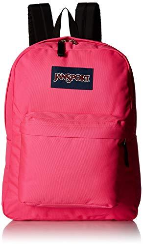 JanSport Superbreak Backpack - Ultra Pink - Classic, - Kids Pink Backpack