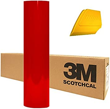 "Dark Red Roll 24/"" x 100/' 3M ScotchCal Series 50 Graphic /& Sign Cutting Vinyl"