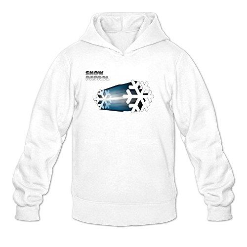 XIULUAN Men's SNOW PATROL Band Logo Hoodie M White