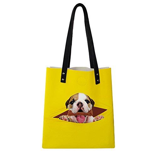 Advocator Stilvolle Print PU Leder Tasche mit Brieftasche für Frauen Casual Reise Handtasche Lehrer Totes Tasche Strand Totes für Mädchen Color-3 GmoVd9